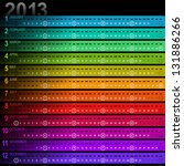 2013 striped calendar with... | Shutterstock .eps vector #131886266