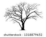 tree silhouettes on white... | Shutterstock .eps vector #1318879652