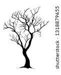 tree silhouettes on white... | Shutterstock .eps vector #1318879655