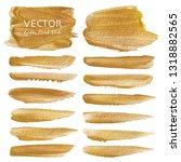 golden vector brush stroke ... | Shutterstock .eps vector #1318882565