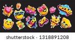 emoji cat and speech bubbles...   Shutterstock .eps vector #1318891208