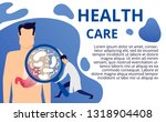 health care concept in flat... | Shutterstock .eps vector #1318904408