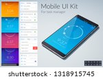 mobile ui kit design concept...