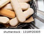 italian savoiardi ladyfingers...   Shutterstock . vector #1318920305