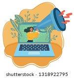 vector cartoon illustration of... | Shutterstock .eps vector #1318922795