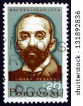 Small photo of PORTUGAL - CIRCA 1966: a stamp printed in the Portugal shows Camara Pestana, Bacteriologist, circa 1966