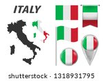 italy. collection of symbols in ... | Shutterstock .eps vector #1318931795