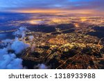 Beautiful Aerial Cityscape View ...