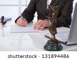 notary public signing document... | Shutterstock . vector #131894486