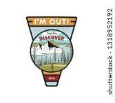 wanderlust logo emblem. vintage ... | Shutterstock . vector #1318952192