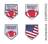 american football logo emblems... | Shutterstock . vector #1318952522