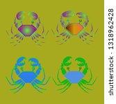 amazing new animal crab... | Shutterstock .eps vector #1318962428