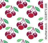 cherry seamless background.... | Shutterstock .eps vector #1318971188