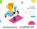 isometric business succes...   Shutterstock .eps vector #1318982195