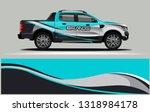 truck wrap design. wrap ... | Shutterstock .eps vector #1318984178