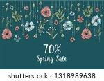 vector hand draw flowers design ...   Shutterstock .eps vector #1318989638