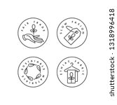 vector set of logos  badges and ... | Shutterstock .eps vector #1318996418