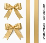 ribbon and bow rendered | Shutterstock . vector #1319008385