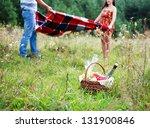 happy couple having romantic...   Shutterstock . vector #131900846