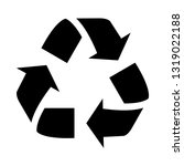 a recycle symbol isolated on a... | Shutterstock . vector #1319022188