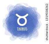 taurus. zodiac sign....   Shutterstock .eps vector #1319038262