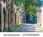 a view of the pere lachaise ...   Shutterstock . vector #1319043692