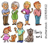 family   set 1  hand drawn...   Shutterstock .eps vector #131905412