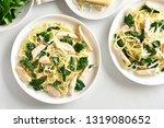 pasta  spaghetti with spinach...   Shutterstock . vector #1319080652