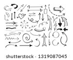 vector isolated hand drawn... | Shutterstock .eps vector #1319087045