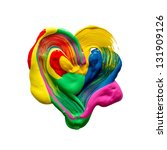 Colorful Heart Drawn With A...