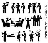 cocktail party people man... | Shutterstock .eps vector #131909642
