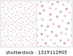 cute hand drawn abstract brush... | Shutterstock .eps vector #1319112905