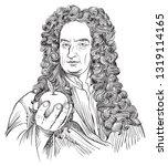isaac newton  1643 1727 ... | Shutterstock .eps vector #1319114165