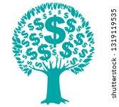 dollar  money tree isolated on... | Shutterstock .eps vector #1319119535