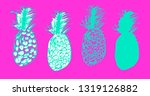 set of sketches of pineapples ...   Shutterstock .eps vector #1319126882