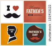 happy fathers day card vintage... | Shutterstock .eps vector #131913122