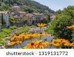 scenery around vals les bains ... | Shutterstock . vector #1319131772