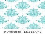 indian lotus flower vector... | Shutterstock .eps vector #1319137742