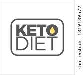 keto diet icon | Shutterstock .eps vector #1319139572