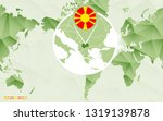 america centric world map with... | Shutterstock .eps vector #1319139878