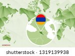 america centric world map with... | Shutterstock .eps vector #1319139938