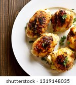 close up of grilled chicken...   Shutterstock . vector #1319148035