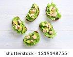 tuna sandwiches with avocado...   Shutterstock . vector #1319148755