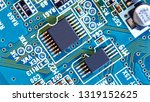 electronic circuit board close... | Shutterstock . vector #1319152625