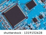 electronic circuit board close... | Shutterstock . vector #1319152628