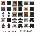 different kinds of fireplaces... | Shutterstock .eps vector #1319154608