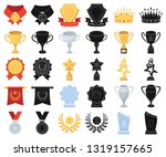 awards and trophies cartoon... | Shutterstock .eps vector #1319157665