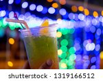 fresh juice mix fruit cocktail... | Shutterstock . vector #1319166512