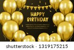 happy birthday greeting card... | Shutterstock .eps vector #1319175215