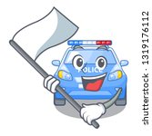 with flag car police isolated... | Shutterstock .eps vector #1319176112